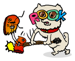 Animal Party2[Cat & Dog & Black Moor] sticker #374903