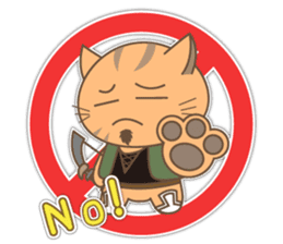 Colleagues amusing and brave Nyanta sticker #375810