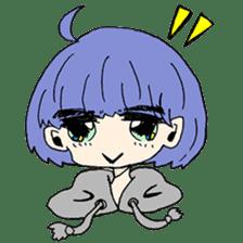 kawaii girl sticker #375945