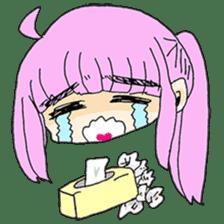 kawaii girl sticker #375947