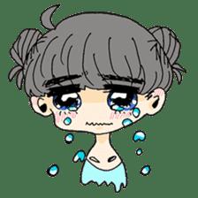 kawaii girl sticker #375948