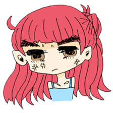 kawaii girl sticker #375950