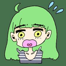 kawaii girl sticker #375955