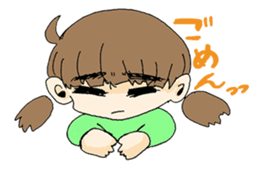 kawaii girl sticker #375970