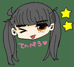 kawaii girl sticker #375972