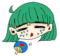 kawaii girl sticker #375980