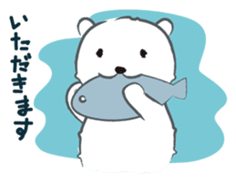 Cute White bear sticker #376669