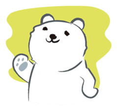 Cute White bear sticker #376687