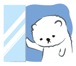 Cute White bear sticker #376696