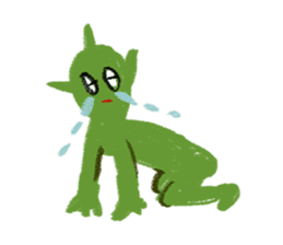 Cute alien sticker #376963