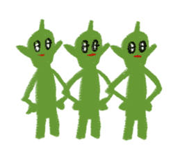 Cute alien sticker #376983