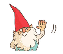 the gnome in the woods sticker #376985