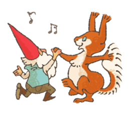 the gnome in the woods sticker #376986