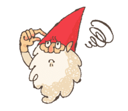 the gnome in the woods sticker #376994