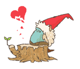 the gnome in the woods sticker #376997
