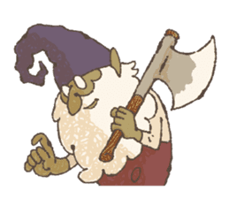 the gnome in the woods sticker #376999
