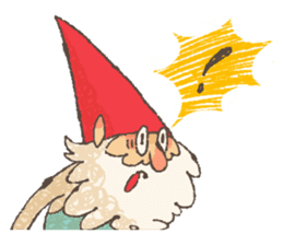 the gnome in the woods sticker #377000