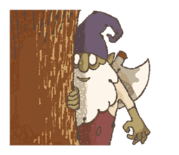 the gnome in the woods sticker #377007