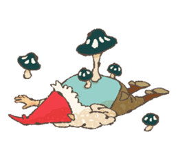 the gnome in the woods sticker #377011