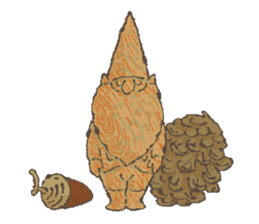 the gnome in the woods sticker #377013