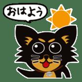 CHIHUAHUA in BLACK sticker #377946