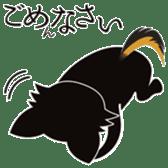 CHIHUAHUA in BLACK sticker #377951