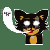 CHIHUAHUA in BLACK sticker #377964