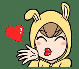 bunny sticker #377993