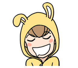 bunny sticker #378023