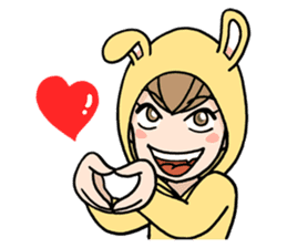 bunny sticker #378024