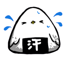 rice ball bird sticker #378232