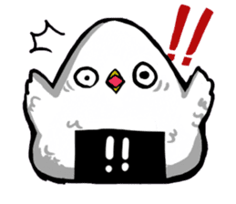 rice ball bird sticker #378234