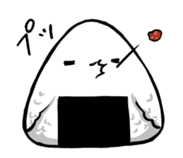 rice ball bird sticker #378248