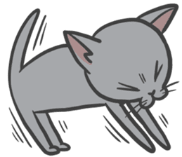 "Russian Blue cat ""MAITAKE"" sticker #379433"