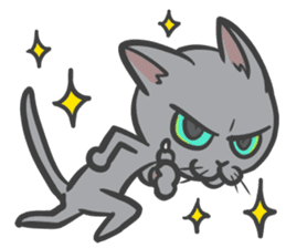 "Russian Blue cat ""MAITAKE"" sticker #379455"