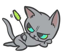 "Russian Blue cat ""MAITAKE"" sticker #379464"