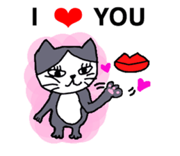 "Cat ""BIBI"" and pleasant friends. sticker #379652"