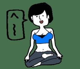 yurusuta(yoga/Daily conversation ver.) sticker #380546