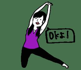 yurusuta(yoga/Daily conversation ver.) sticker #380569