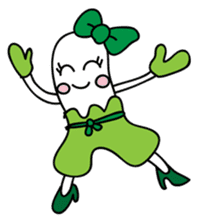 Leek-chan sticker #380825