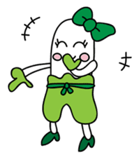 Leek-chan sticker #380826