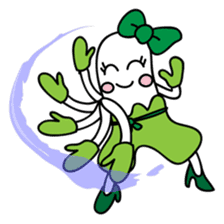 Leek-chan sticker #380849