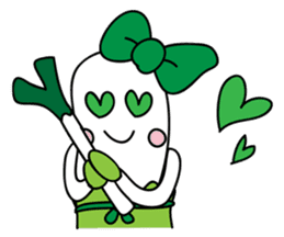 Leek-chan sticker #380856