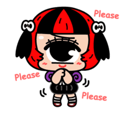 Cyclops Girl Lopco sticker #381155