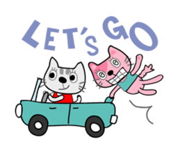 Lucky and Leo the cutie cats sticker #381715