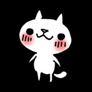 สติ๊กเกอร์ไลน์ The White Kitten Kitty