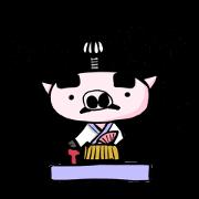 สติ๊กเกอร์ไลน์ Feudal lord of pig(Japanese version)
