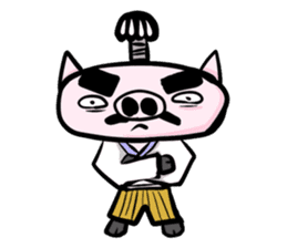 Feudal lord of pig(Japanese version) sticker #384546