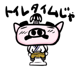 Feudal lord of pig(Japanese version) sticker #384557