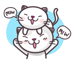 Miw Miw Humour milk cat sticker #386512